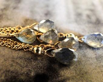 14k Gold Filled EarringsDress Up Dress Down Sexy Earrings, Dangle Earrings, Gemstone Earrings, Luxe Gemstone Earrings,  Luxe Earrings