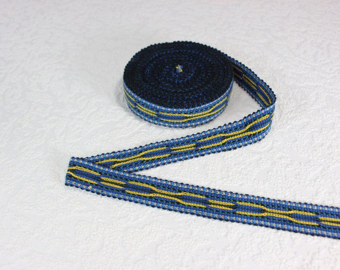 Woven Trim (6 yards), Woven Border, Cotton Ribbon, Grosgrain Ribbon, Dress Border, Border Trim, R199