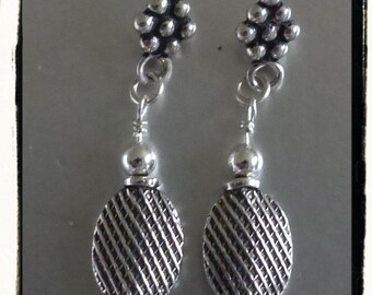 Sterling and More Sterling Silver Dangle Earrings -- Gift Idea -- Treat Yourself -- Valentine's Day