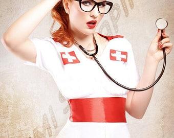 Pin up Nurse - Print by Dollhouse