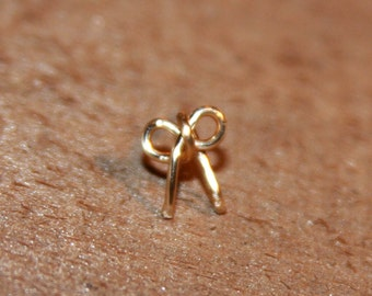 Mini Bow Stud Cartilage Earring, 18g Nose Stud, Bow tragus, custom piercing jewelry, Tiny Nose Stud, Tiny bow earring, Bow Nose Stud