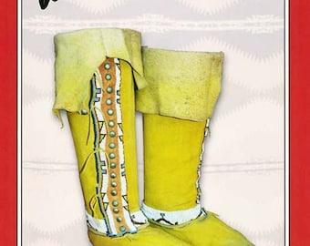 Missouri River Plains Hi-Top Moccasins - Men's & Women's sizes Sewing Pattern #11 - Native American Indian Boots