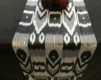 Beautiful Silk Ikat Table Runner for concoles or small dining tables