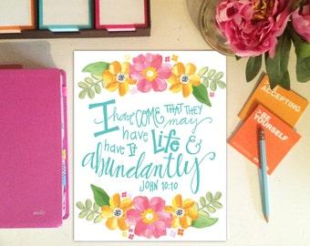 Abundant Life Print