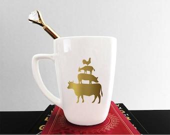 Farm Animal Stack Mug - Country Mug - Southern Decor - Animal Mug - Farmhouse Decor - Mug Set