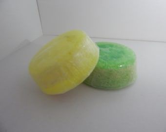 Lemon loofah soap -  exfoliating scrub soap bar - imbedded loofah - gifts for her - mother's day present - gift for mum.