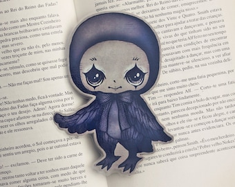 Poe the Little Raven - bookmark - made to order