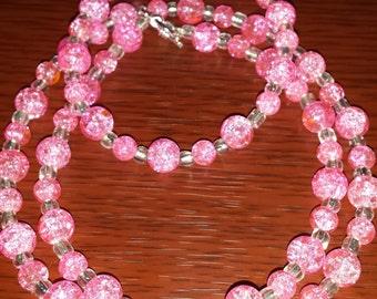 Item 19- Sparkling Pink Necklace & Bracelet