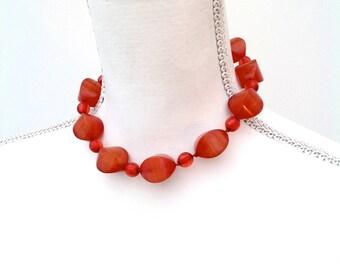 1930s necklace beads early plastic butterscotch celluloid vintage Art Deco