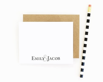 Couples Personalized Stationary Personalized Wedding Stationery Wedding Thank You Notes Couples Shower Gift Bridal Shower Couples Note Cards