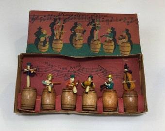 Occupied Japan Rag Time Band Toy Set w/ Box