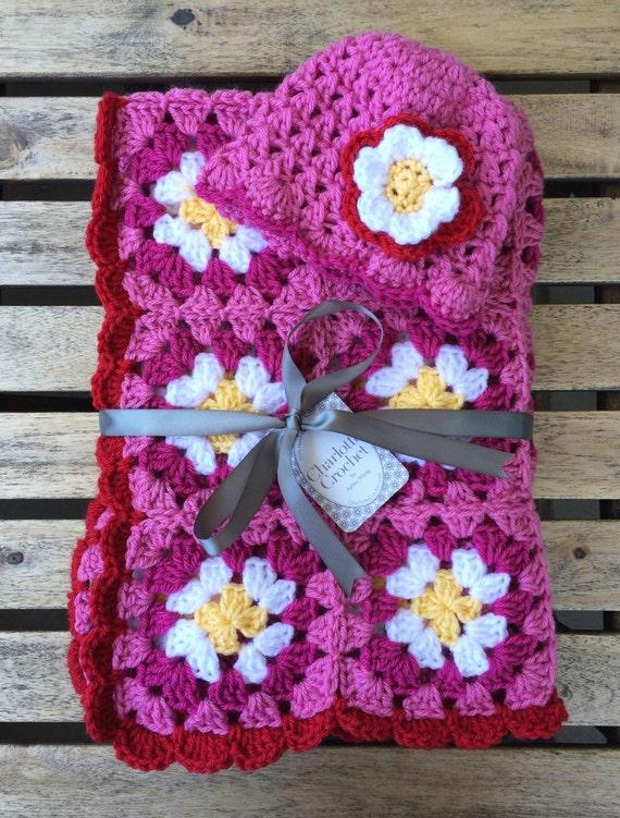 couvre lit crochet pour bébé Crochet Granny Square baby blanket for crib stroller couvre lit crochet pour bébé