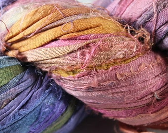 Recycled Sari Silk Ribbon - Bohemian