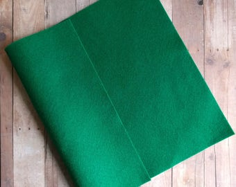 Emerald Green Acrylic Felt Sheets or Circles, High Quality, Made in USA, Solid Felt, 5 9x12 Sheets or 30 Pack of 1 inch Circles, Quick Ship