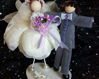 Fairy doll bride and groom, cake topper