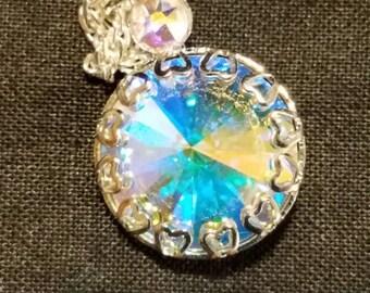 Aurora Borealis Swarovski Austrian Crystal Necklace