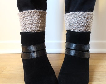 SALE Crochet Boot Cuffs, Chunky Boot Cuffs, Winter Boot Cuffs, Boot Toppers, Boot Warmers, Gift for Her, Boot Cuffs