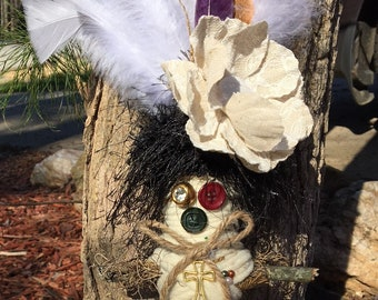 Natural White Voodoo Doll