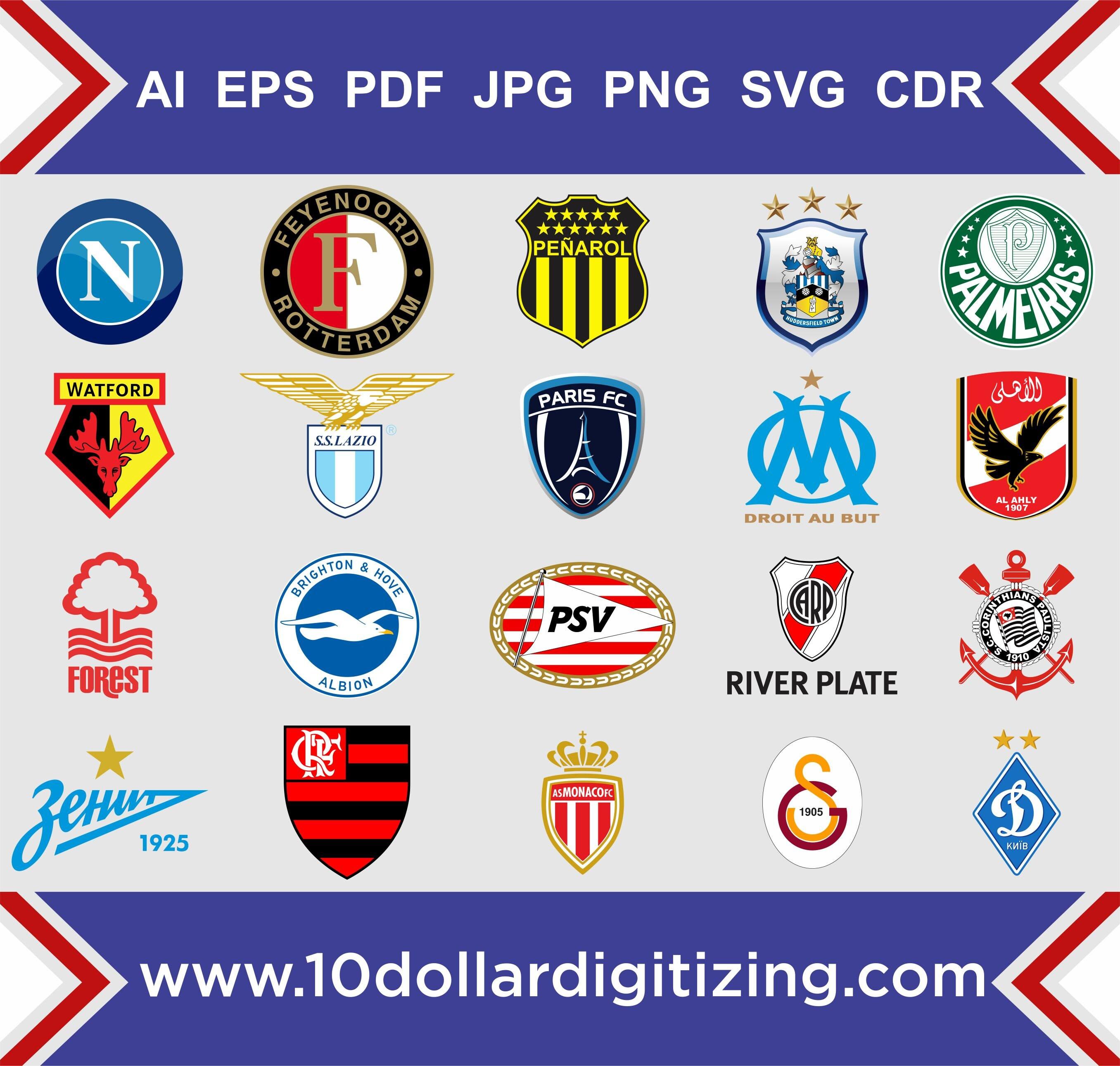 Super European Football team vector logos europe football team logo GZ36