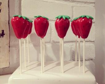 12 Strawberry Cake Pops
