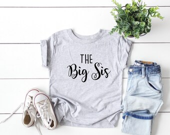The Big Sis Youth Tee, Big Sister Shirt, The Big Sister, Youth Tee, Youth Shirt, Sister Shirt, Gift for Big Sister, Bella Canvas Youth