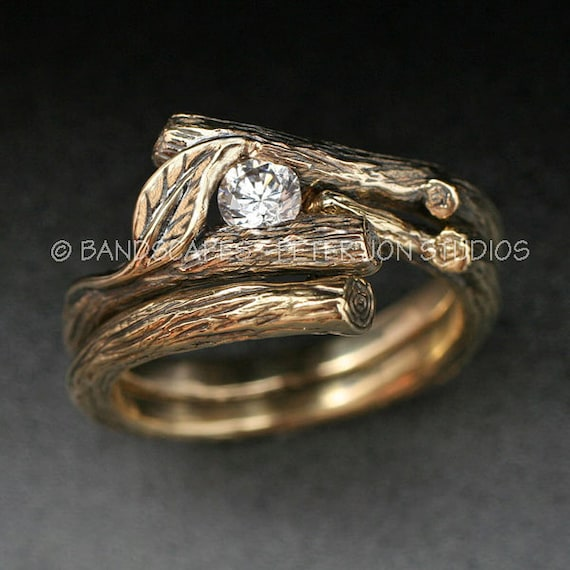 sterling silver media rough rings trillion ring engagement band natural diamond raw size uncut wedding