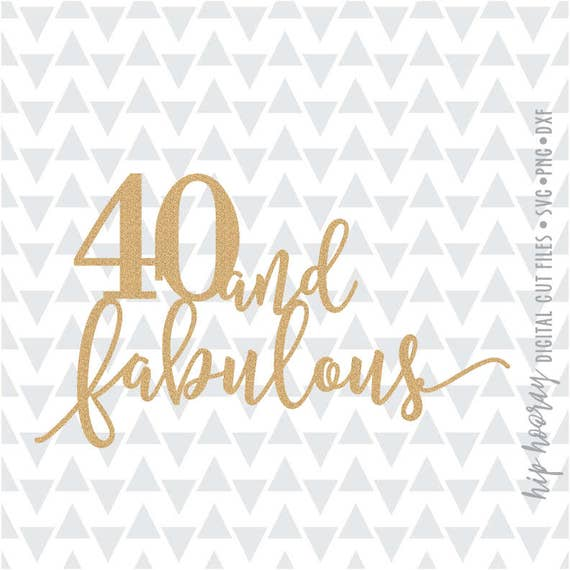 Forty And Fabulous Fortieth 40th Birthday Cake Topper