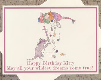 Cat Birthday Card, Funny Birthday Card, Funny Cat Birthday Card, Cat Lover Card, Cat Card, Kitty Card, Pet Lover Card, Funny Cat Card