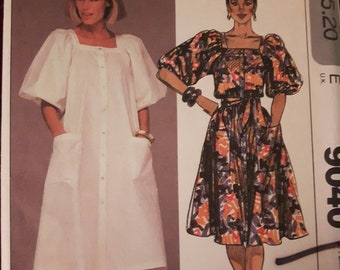 McCall's 9040, Vintage  Dress Sewing Pattern