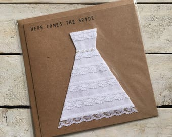 Wedding Dress Wedding Card, Here comes the Bride