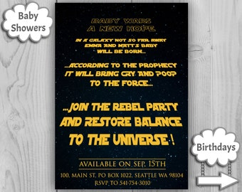 Star wars baby shower Etsy