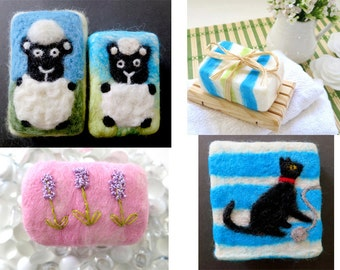 Felted Soap Video and E-Tutorial, How To Felt Soap, Soap Felting Video and E-Tutorial, Learn To Felt Soap, Craft Project for Kids and Adults