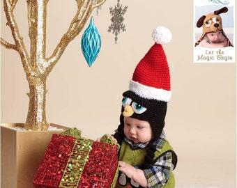 Penguin Santa Holiday Christmas Hat - Any Size