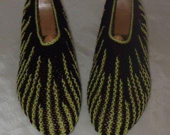 Knitted handmade 37/39 indoor slippers