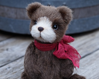 Artist collectible Teddy bear Bruno(OOAK)