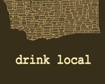 Drink Local- Washington Beer T-shirt