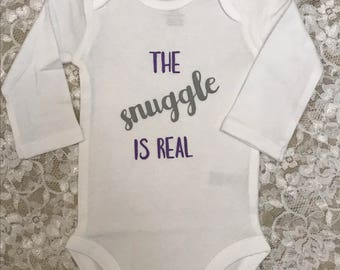 The Snuggle is real onesie, baby girl, onesie, toddler, infant onesie, baby gift, baby, clothing, toddler, infant