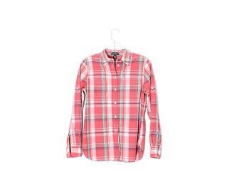 RALPH LAUREN BLOUSE // beautiful high quality cotton plaid blouse, ralph lauren shirt, womens clothing, dress shirt // size small