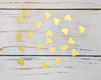 heart confett gold