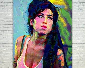 Amy Winehouse - Amy Winehouse Poster,Amy Winehouse West Art,Amy Winehouse Print,Amy Winehouse Poster,Amy Winehouse Merch,Amy Winehouse Wall