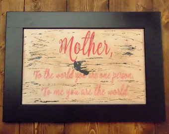 Mother's Day Sign, Mom Sign, Mother Sign
