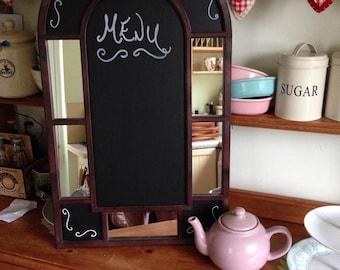 Vintage mirrored chalkboard vintage menu