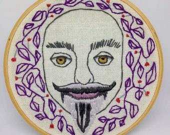 "Wall Art, Indie Decor, ""Glen"" 5 inch Hoop. Modern Embroidery"