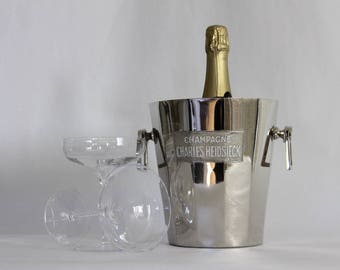 Art Deco French Champagne Bucket Parisien Style Charles Heidsieck Reims France