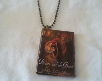 Book Pendant - Beauty and the Beast Pendant - Book Jewelry - Beauty and the Beast Book Ornament -  Beauty and the Beast Book - Gifts for Her