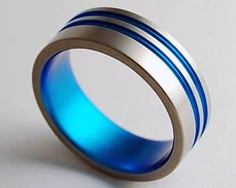 Andromeda Band , Titanium Ring , Wedding Band , Promise Ring