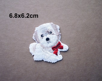 Dog Patch, Cute Dog Patch, Puppy Patch, Embroidered Patch, Animal patch, Iron on patches, Sew on patch, WS-89