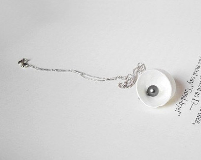 Cocoon And Pearl Necklace, Handmade In England By Huiyi Tan