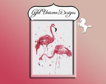 Flamingos 1 Cross Stitch Pattern Instant Download