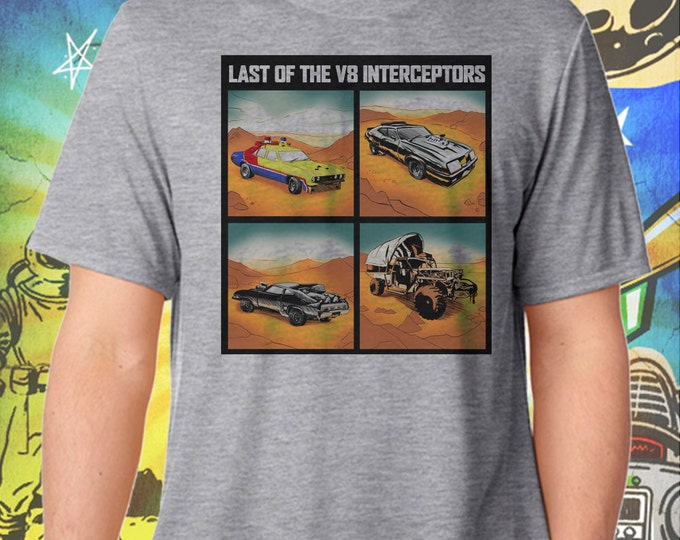 Mad Max Car Collection / Last of the V8 Interceptors / Men's Gray Performance T-Shirt